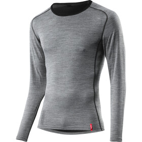 Löffler Transtex Merino LA Sous-vêtement Homme, grey melange